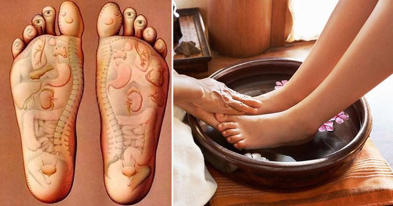 Tăng tuổi thọ với muối hồng ngâm chân trước khi ngủ