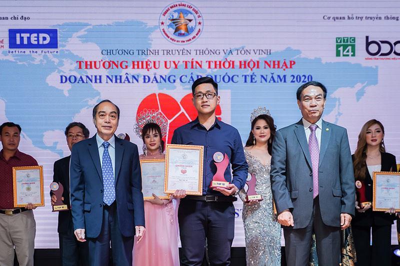 Mai Hân Group vinh dự nhận được giải thưởng DOANH NHÂN ĐẲNG CẤP QUỐC TẾ -THƯƠNG HIỆU UY TÍN THỜI HỘI NHẬP.